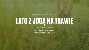 Lato z jogą na trawie
